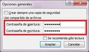 003 Proteger un archivo Excel 2010 con contraseña