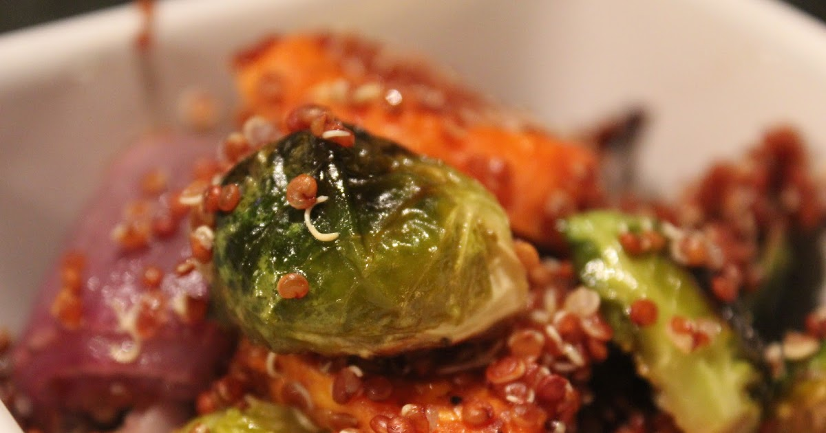 Delicious Dishings: Roasted Brussels Sprouts, Red Onion ...