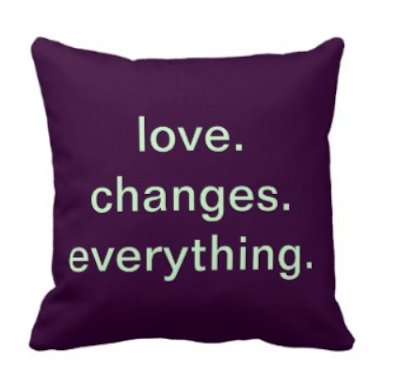 Throw Pillows With Quotes On Them : Pillows with Words: Love Quote Throw Pillows