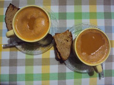 desi pumpkin soup with fennel.....