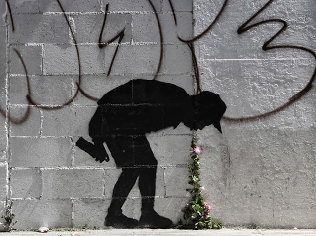 "New Street Art Piece By Banksy Somewhere In The World - Dubbed ""Better Out Than In"" October 2013"