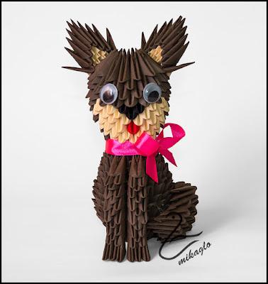 Kotek origami 3d – origami 3d kitty