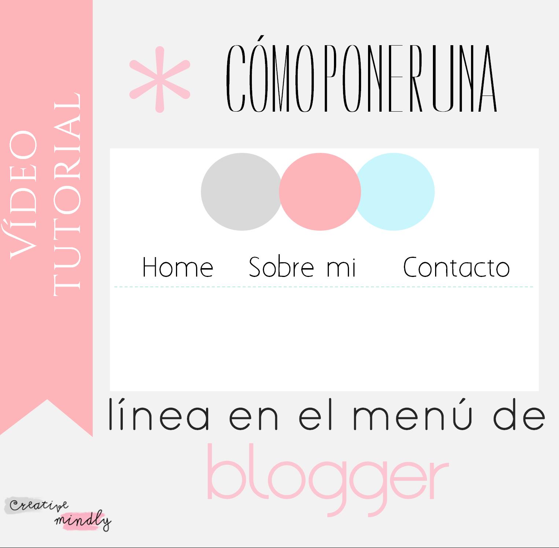 poner lineas pestañas blogger