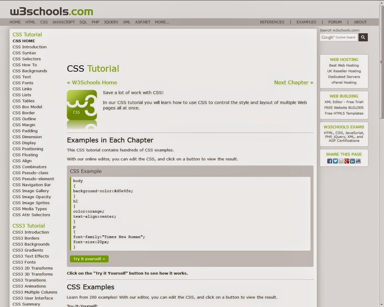 W3School CSS Tutorial