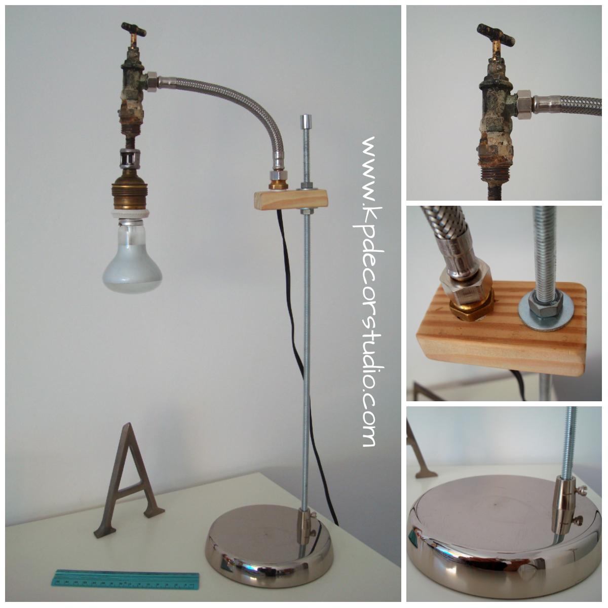 Kp tienda vintage online original l mpara artesanal de - Lamparas de mesa originales ...
