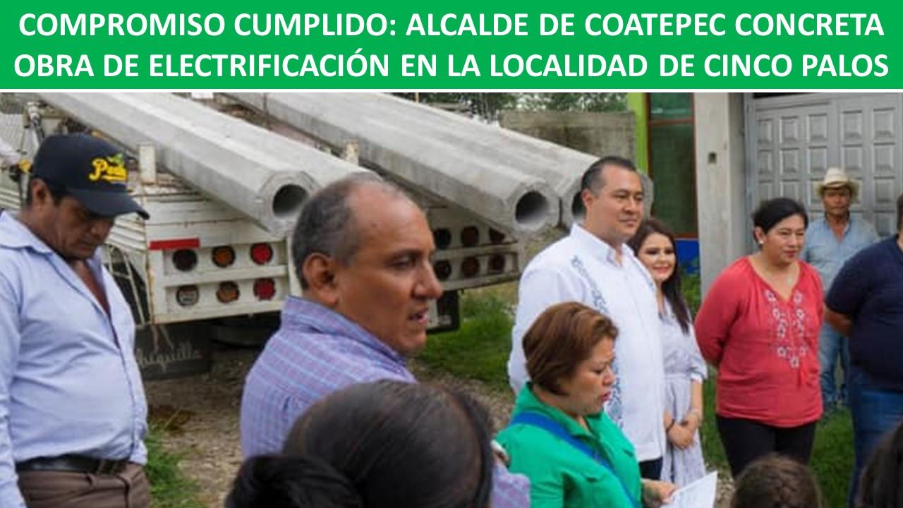 ELECTRIFICACIÓN EN LA LOCALIDAD DE CINCO PALOS