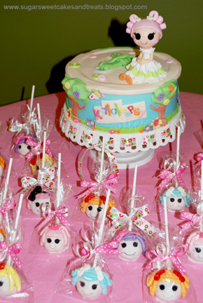 Sugar Sweet Cakes and Treats: Lalaloopsy Cake & Cake Pops
