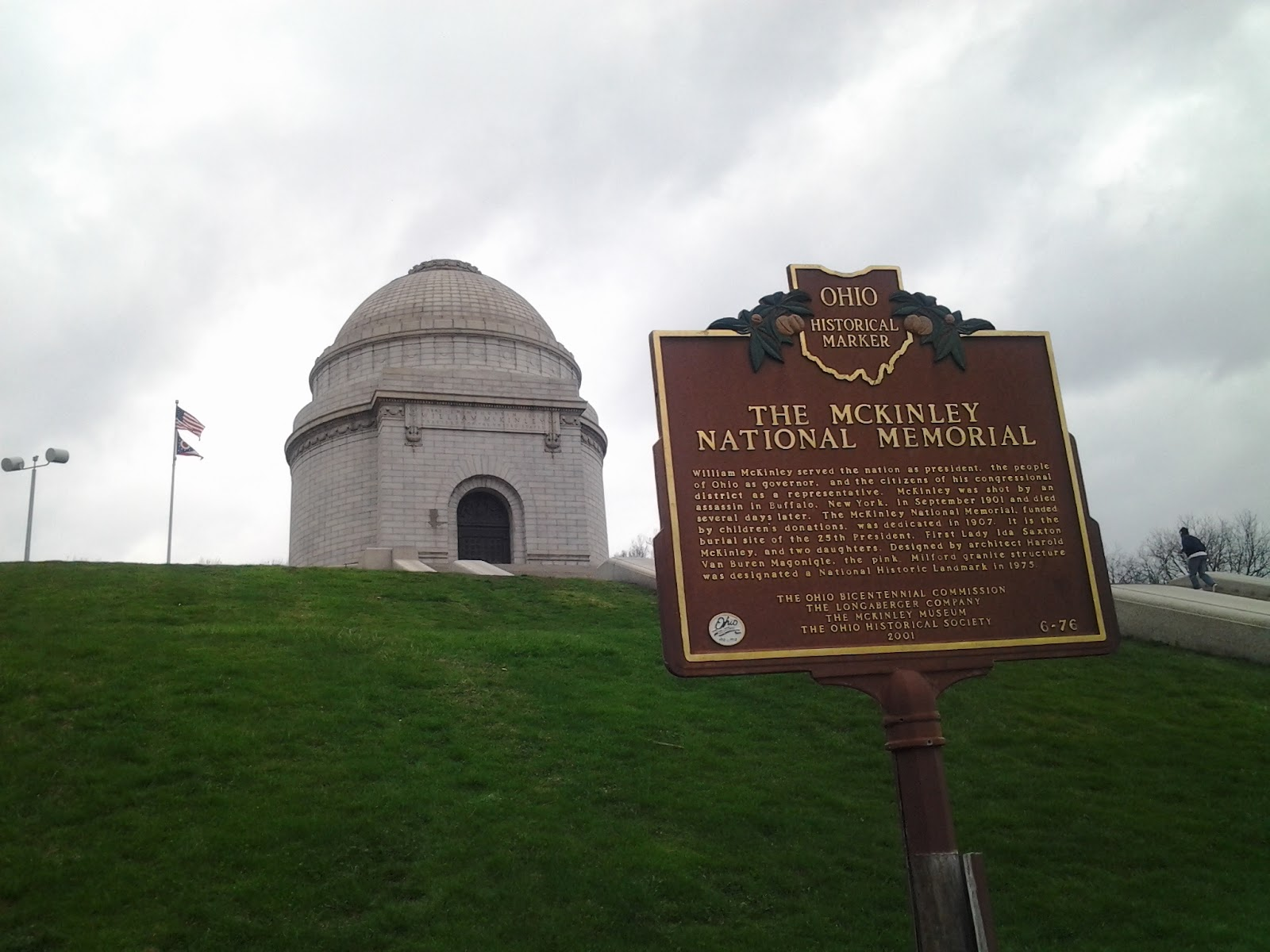 mountain shaped mckinley tomb in canton oh