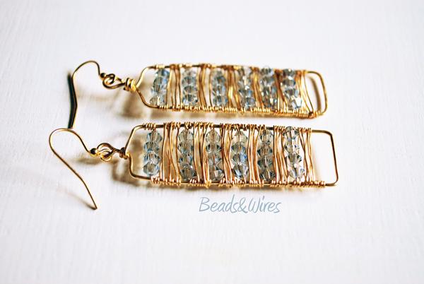 orecchino wrapping e swarovski