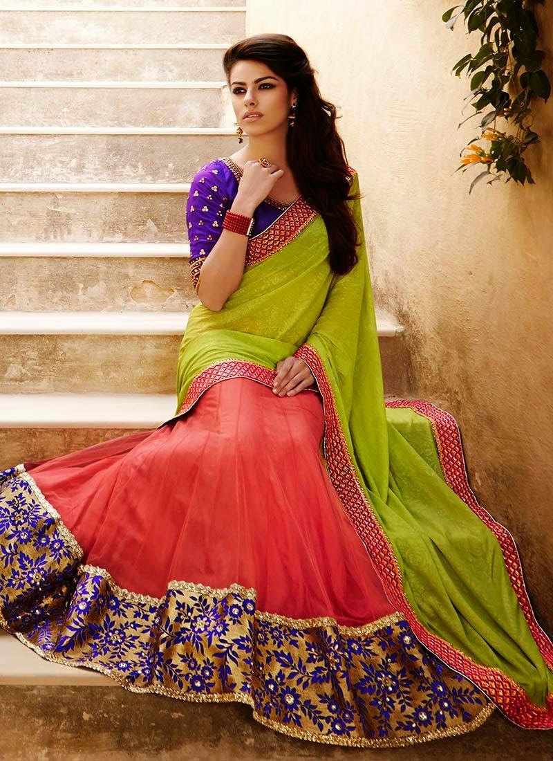 http://www.cbazaar.com/party-wear-saree/lehenga-style-drapes/grandiose-net-n-georgette-lehenga-saree-p-sasnak6007.html