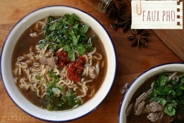 Faux Pho: Ramping Up Instant Ramen | www.girlichef.com