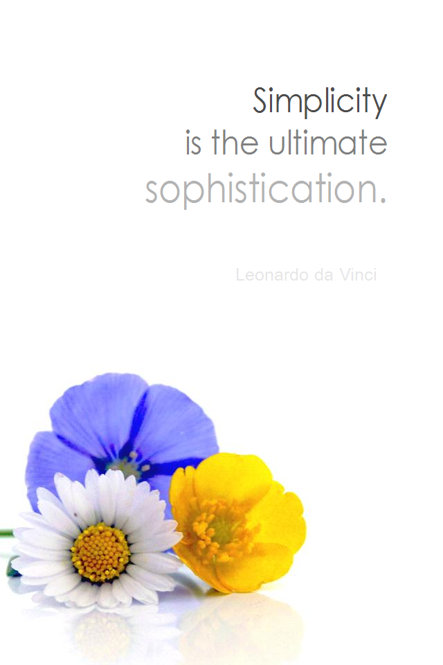 visual quote - image quotation for SIMPLICITY - Simplicity is the ultimate sophistication. - Leonardo da Vinci