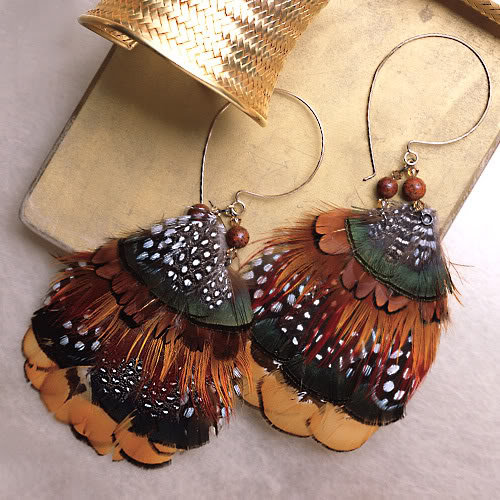 Feather Jewelry: Feather Earrings