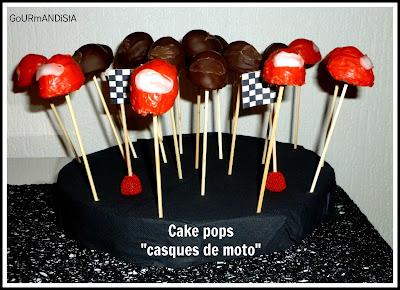 Image Cake pops casques de moto