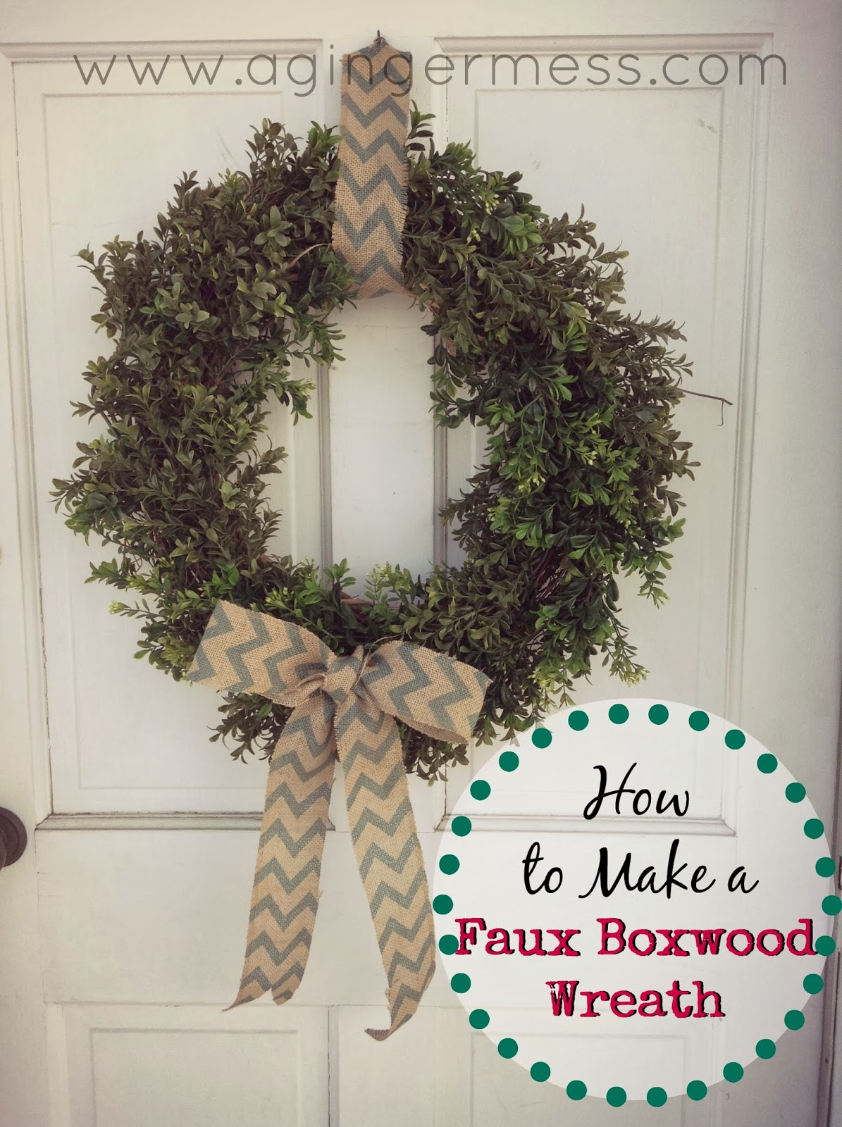 Faux Boxwood Wreath