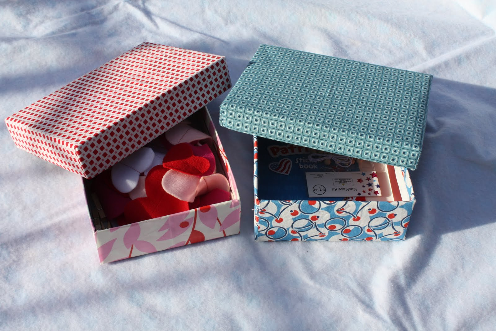 Sara vs sarah challenge no 20 submission fabric for Fabric covered boxes craft