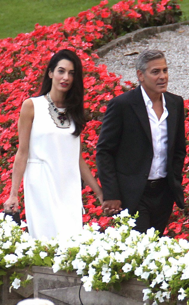 george clooney wedding pictures