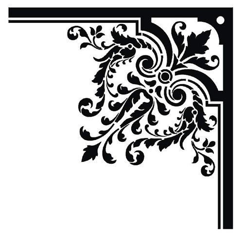 Border borders damask baroque free graphic design vectors free