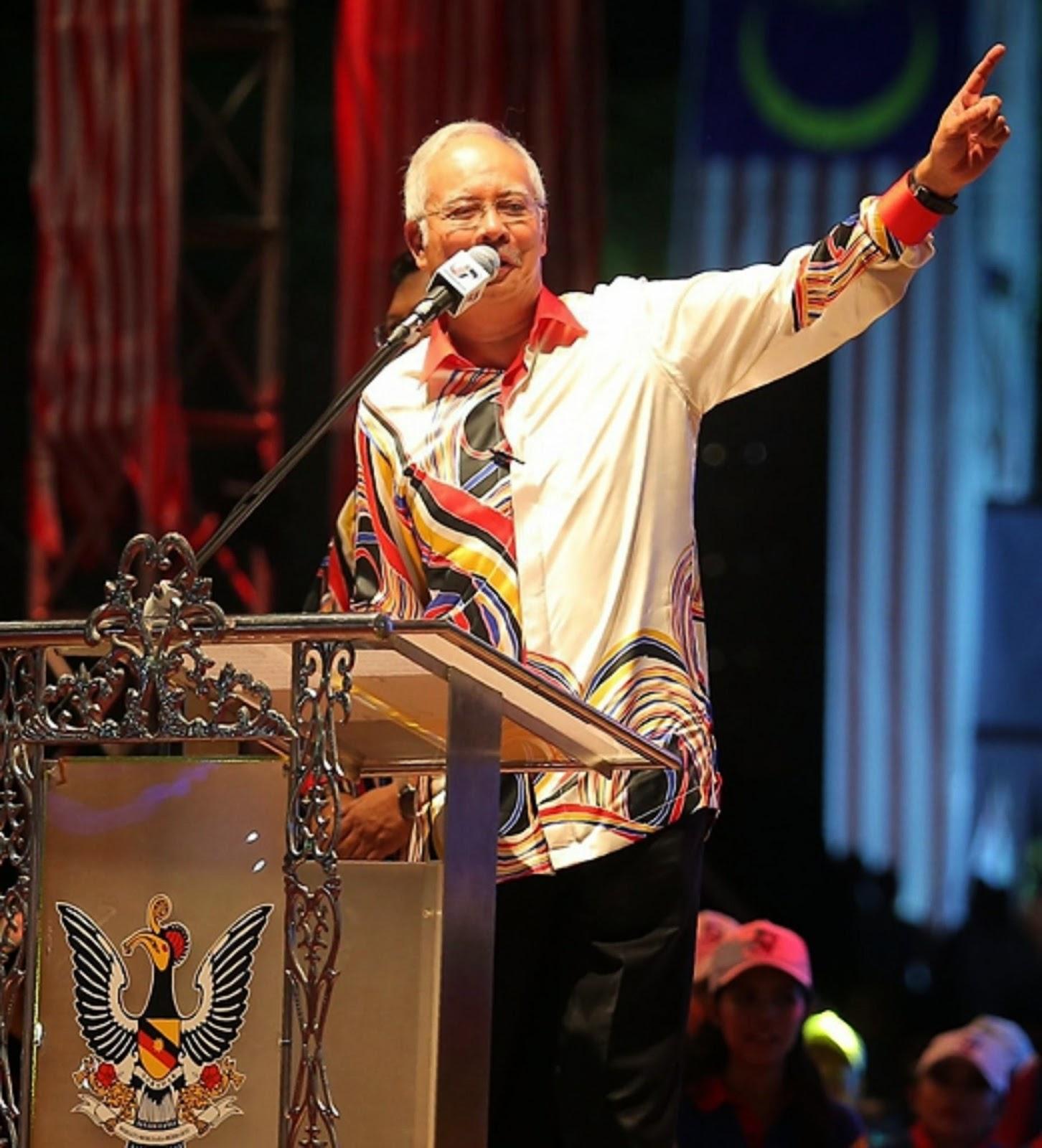 Pemansang ke diasai peranak Sarawak kelai penumbuh menua Malaysia udah mujur Najib