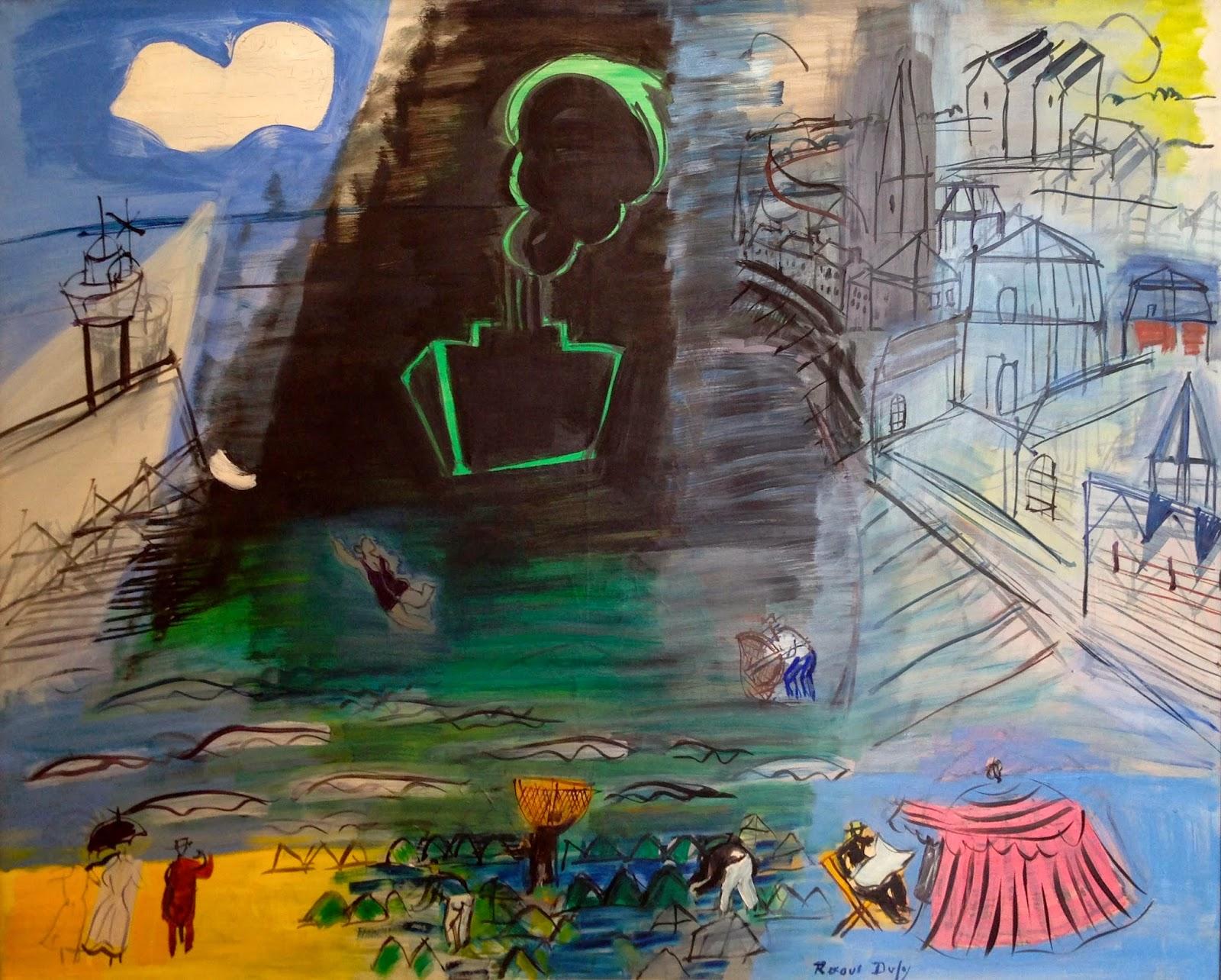ÚLTIMA EXPOSICIÓN QUE HAS VISTO - Página 6 Raoul+Dufy+(1877-1953)+The+Black+Cargo+ship+1952