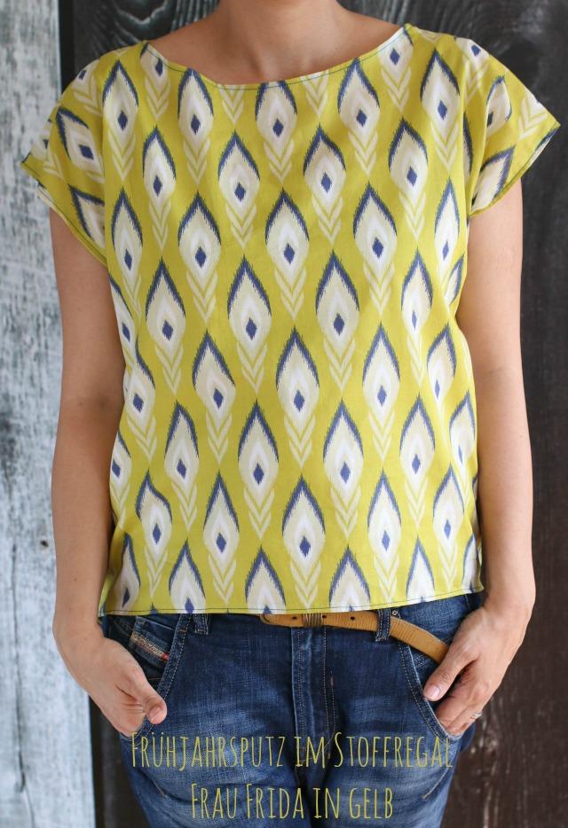 gelbe Bluse nach dem Schnittmuster Frau Frida von Schnittreif