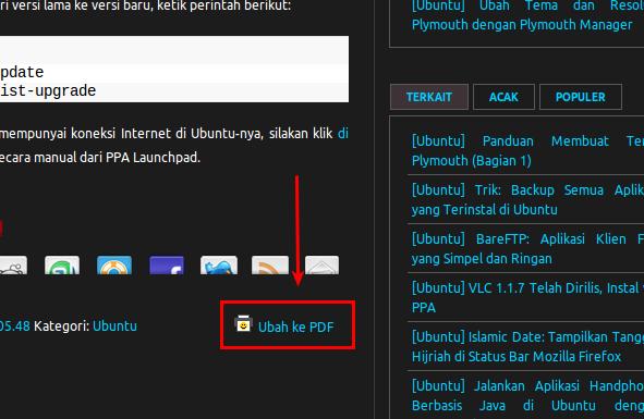 Ubah artikel ke dalam format PDF