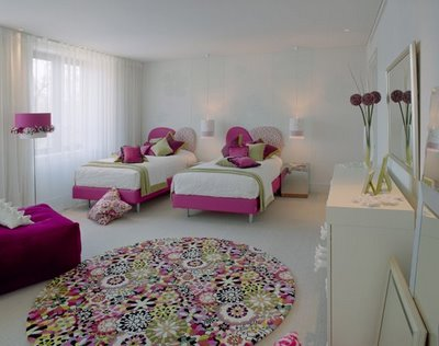 Girls Bedroom with Twin Beds