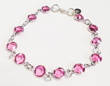 Pink Crystal Rounds Bracelet Macee Leigh Swarovski Collectuon