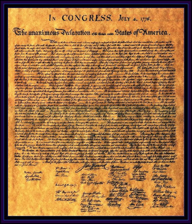 The declaration of independence 1776 of the thirteen united states of