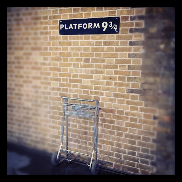 Platform 9 and 3/4 at Kings Cross station, London