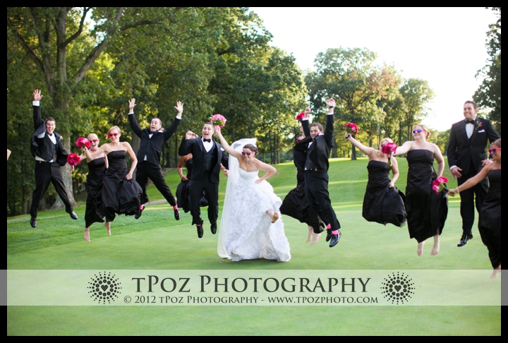 Hillendale Country Club Wedding Bridal Party Jumping