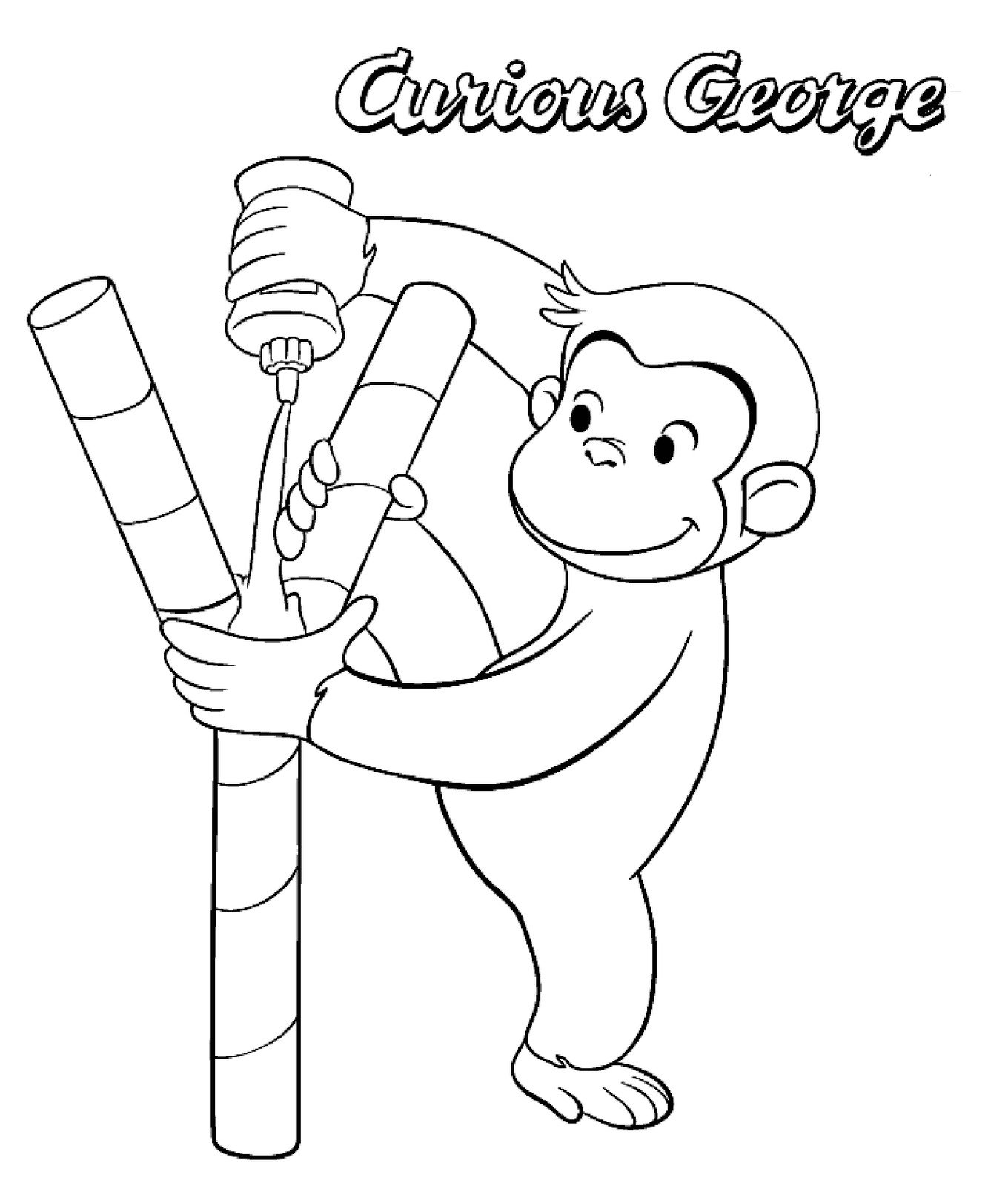 curious george coloring pages on coloring bookinfo the name jorge