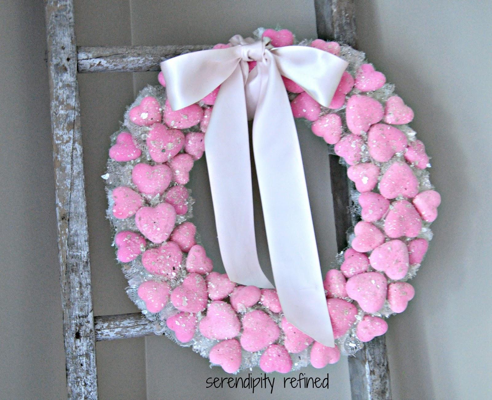 Serendipity Refined Blog Dollar Tree Valentines Day Heart Wreath