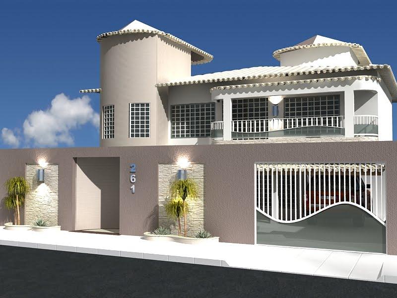 Construindo minha casa clean fachadas muros grades e for Casa moderna numero 1