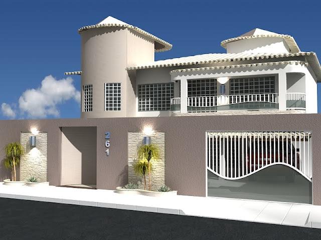 Construindo minha casa clean fachadas muros grades e for Casa moderna gta sa