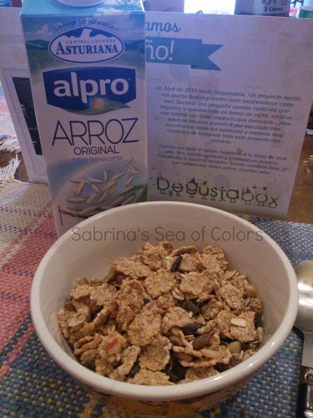 cereal con leche de arroz