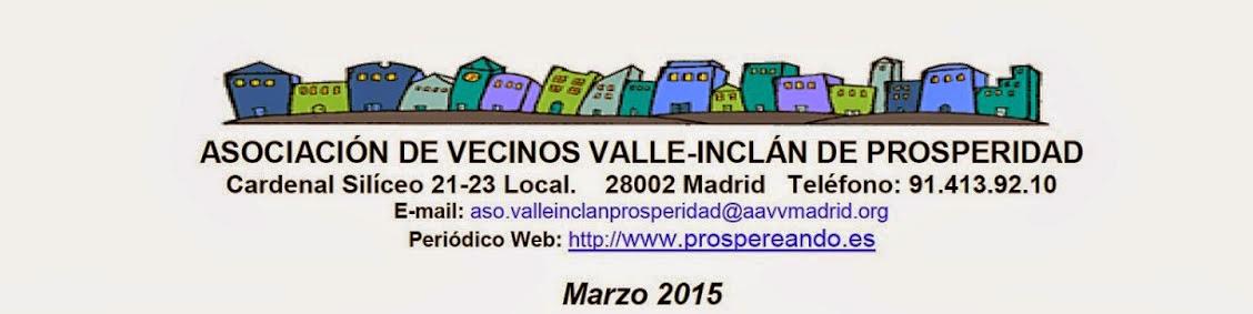 """AA VV """"Valle Inclan""""  Prosperidad Marzo 2015"""
