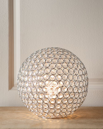 Horchow Bosley Crystal Ball Lamp