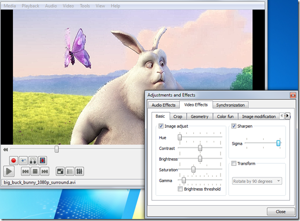 VLC features, vlc modifications, vlc player , tech info, technical Article, Video sharpness effect in vlc , adjust video sharpness , adjust video sharpness in vlc , video sharpness in vlc , video sharpness