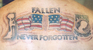 Tatuagens bandeiras americana guerra