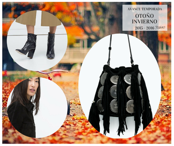 avance temporada moda otono invierno 2015 2016 negro botines calcetin