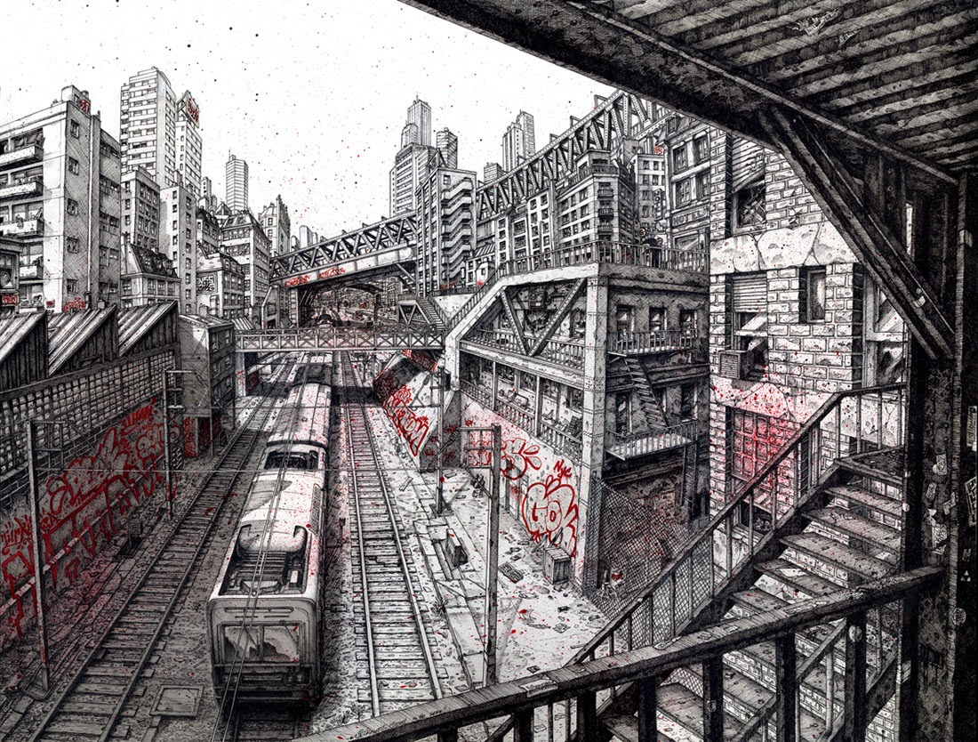 04-Cities-Gok-Town-DeckTwo-Cityscape-Mural-Drawings-www-designstack-co