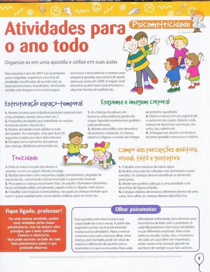 Super Banco de Atividades: EDUCAÇÃO INFANTIL - psicomotricidade JZ02
