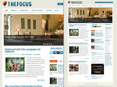 Download Thefocus premium blogger template