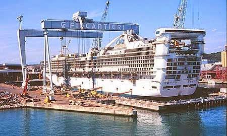 Fincantieri costruirà una nuova nave per princess cruises