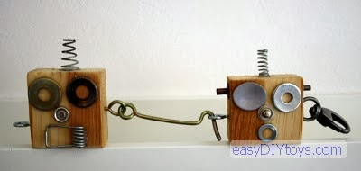 easy DIY Robot Key Rings