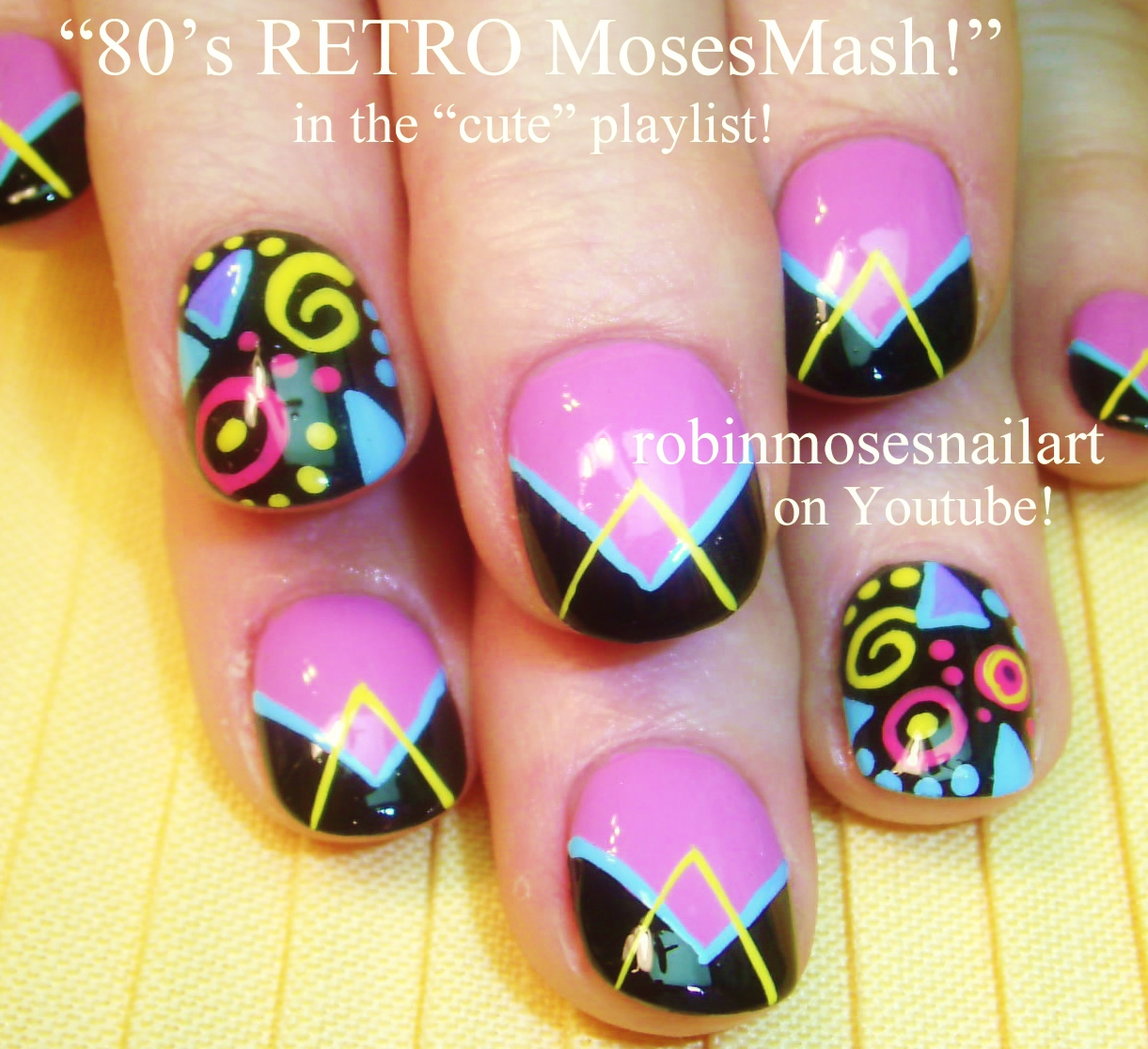 Girly Nail Art: Robin Moses Nail Art: Cutest Nails, Girly Pink Nails, Cute