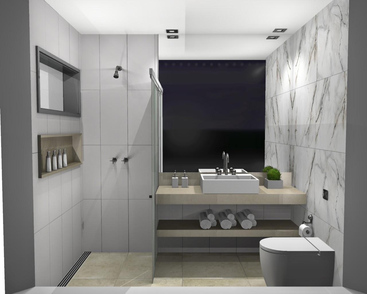 paredes) Revestimento branco acetinado tamanho 30x60 e retificado  #4B5D2F 1280x1024 Banheiro Com Porcelanato Madeira