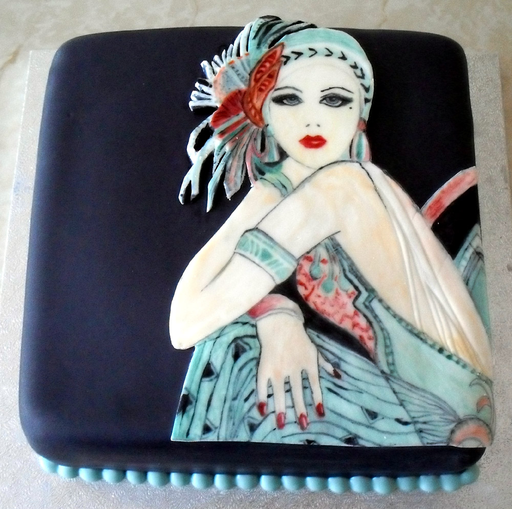 Art Deco Birthday Cake : Sprinkles & Crumbs: Art Deco cake & 90th birthday cake