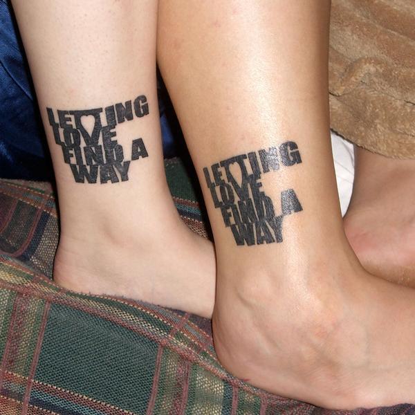 boyfriend girlfriend matching tattoos matching tattoos. Black Bedroom Furniture Sets. Home Design Ideas